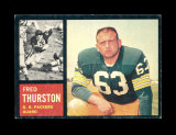 1962 Topps Football Card Scarce Short Print #69 Rookie Fred