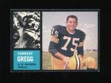 1962 Topps Football Card #70 Hall of Famer Forrest Gregg Green Bay Packers.