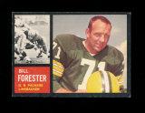 1962 Topps Football Card Scarce Short Print #73 Bill Forester Green Bay Pac