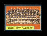 1962 Topps Football Card Scarce Short Print #75 Green Bay Packers Team Card
