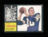 1962 Topps Football Card Scarce Short Print #90 Rookie Hall of Famer Fran T