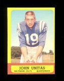 1963 Topps Football Card #1 Hall of Famer Johnny Unitas Baltimore Colts. EX