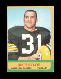 1963 Topps Football Card #87 Hall of Famer Jim Taylor Green Bay Packers. EX