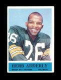 1964 Philadelphia Football Card #71 Rookie Hall of Famer Herb Adderly Green