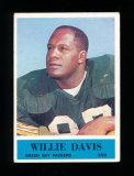1964 Philadelphia Football Card #72 Rookie Hall of Famer Willie Davis Green