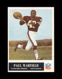 1965 Philadelphia Football Card #41 Rookie Hall of Famer Paul Warfield Clev