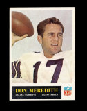 1965 Philadelphia Football Card #50 Don Meradith Dallas Cowboys. EX/MT-NM C