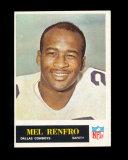 1965 Philadelphia Football Card #53 Rookie Hall of Famer Mel Renfro Dallas