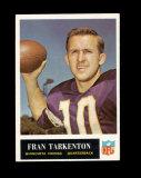 1965 Philadelphia Football Card #110 Hall of Famer Fran Tarkenton Minnesota