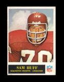 1965 Philadelphia Football Card #187 Hall of Famer Sam Huff Washington Reds