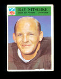 1966 Philadelphia Football Card #87 Hall of Famer Ray Nitschke Green Bay Packers. VG/EX-EX Condition