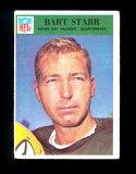 1966 Philadelphia Football Card #88 Hall of Famer Bart Starr Green Bay Packers. VG/EX-EX Condition