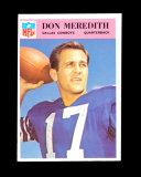 1966 Philadelphia Football Card #61 Don Meredith Dallas Cowboys. EX/MT-NM Condition