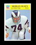 1966 Philadelphia Football Card #102 Hall of Famer Merlin Olsen Los Angeles