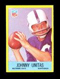 1967 Philadelphia Football Card #23 Hall of Famer Johnny Unitas Baltimore C