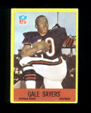 1967 Philadelphia Football Card #35 Hall of Famer Gale Sayers Chicago Bears
