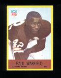 1967 Philadelphia Football Card #46 Hall of Famer Paul Warfield Cleveland B