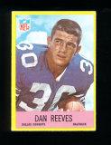 1967 Philadelphia Football Card #58 Rookie Hall of Famer Dan Reeves Dallas