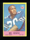 1967 Philadelphia Football Card #59 Hall of Famer Mel Renfro Dallas Cowboys