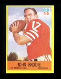 1967 Philadelphia Football Card #172 John Brodie San Francisco 49ers. EX/MT