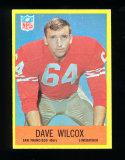 1967 Philadelphia Football Card #178 Rookie Hall of Famer Dave Wilcox San F