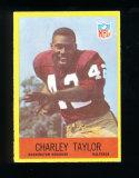 1967 Philadelphia Football Card #190 Hall of Famer Charlie Taylor Washington Redskins. EX/MT-NM Cond