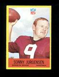1967 Philadelphia Football Card #185 Hall of Famer Sonny Jurgensen Washington Redskins. EX/MT-NM Con