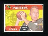 1968 Topps Football Card #1 Hall of Famer Bart Starr Green Bay Packers. VG-