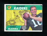 1968 Topps Football Card #142 Hall of Famer George Blanda Oakland Raiders.