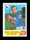 1968 Topps Football Card #161 Hall of Famer Fran Tarkenton Minnesota Viking