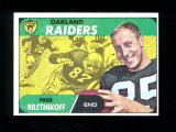 1968 Topps Football Card #168 Hall of Famer Fred Biletnikoff Oakland Raider