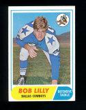 1968 Topps Football Card #181 Hall of Famer Bob Lilly Dallas Cowboys. EX/MT