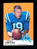 1969 Topps Football Card #25 Hall of Famer Johnny Unitas Baltimore Colts. E