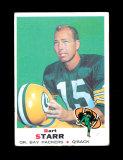 1969 Topps Football Card #215 Hall of Famer Bart Starr Green Bay Packers. V