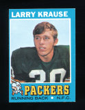 1971 Topps Football Card #12 Larry Krause Green Bay Packers. EX/MT-NM Condi