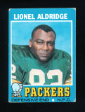 1971 Topps Football Card #28 Lionel Aldridge Green Bay Packers. VG/EX-EX Co
