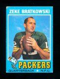 1971 Topps Football Card #111 Zeke Bratkowski Green Bay Packers. VG-VG/EX C