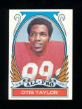 1972 Topps Football Card (Very Very Scarce High Number) #270 All Pro Otis T