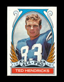 1972 Topps Football Card (Very Very Scarce High Number) #281 All Pro Hall o