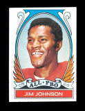 1972 Topps Football Card (Very Very Scarce High Number) #284 All Pro Jim Jo