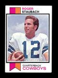 1973 Topps Football Card #475 Hall of Famer Roger Staubach Dallas Cowboys E