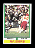 1974 Topps Football Card #219 Rookie Hall of Famer Ray Guy Oakland Raiders