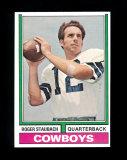 1974 Topps Football Card #500 Hall of Famer Roger Staubach Dallas Cowboys E