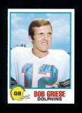 1978 Topps Holsum Bread Football Card #16 Hall of Famer Bob Griese Miami Do