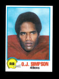 1978 Topps Holsum Bread Football Card #29 Hall of Famer O.J. Simpson San Fr