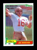 1981 Topps Football Card #216 Rookie Hall of Famer Joe Montana San Francsic