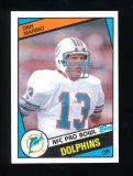 1984 Topps Football Card #123 Rookie Hall of Famer Dan Marino Miami Dolphin