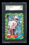 1986 Topps Football Card #161 Rookie Hall of Famer Jerry Rice San Francisco