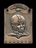 1997 Pinnacle X-press Metal Works Bronze Football Card #20 of 20 Hall of Fa