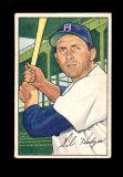 1952 Bowman Baseball Card #80 Gil Hodges Brooklyn Dodgers.  EX-EX/MT Condit